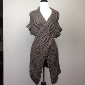 Angelcitiz Cable-Knit Sweater Tunic medium